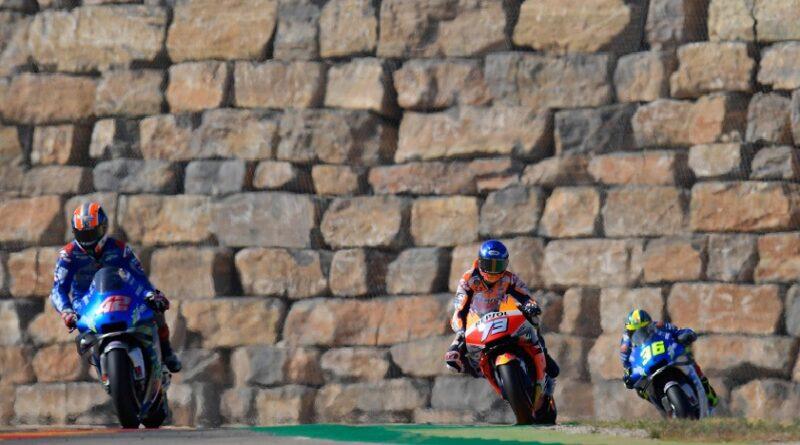 Rins, Marquez y Mir en GP Aragon 2020