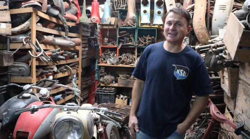 Ricardo Vergnano colecciona motos NSU