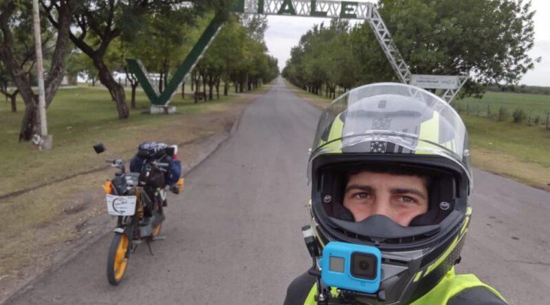 Entre Ríos en un ciclomotor