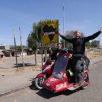 Récord Guinness: el viaje más largo en scooter con sidecar