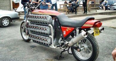 Whitelock Tinker Toy, la moto de los 48 cilindros